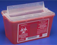 KND Sharps Container Red 8 Qt Medium  ( Discontinued )