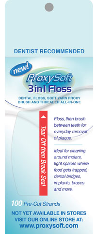 PWI ProxySoft 3 in 1 Floss Dispenser Pack 12 x 100 Packages