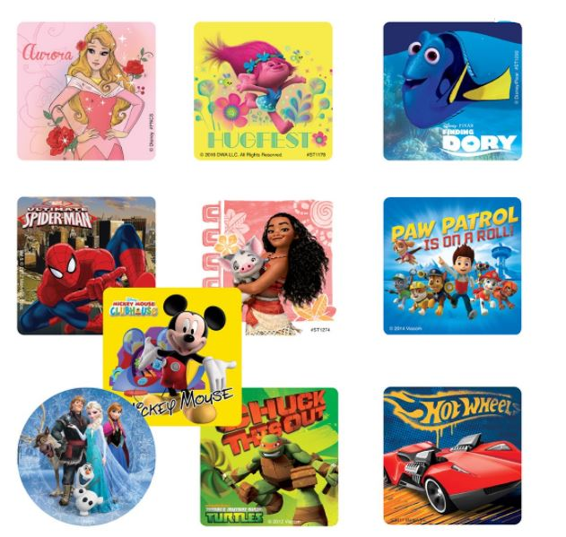 PGA Sticker Best Sellers Pkg/1000 Licensed characters